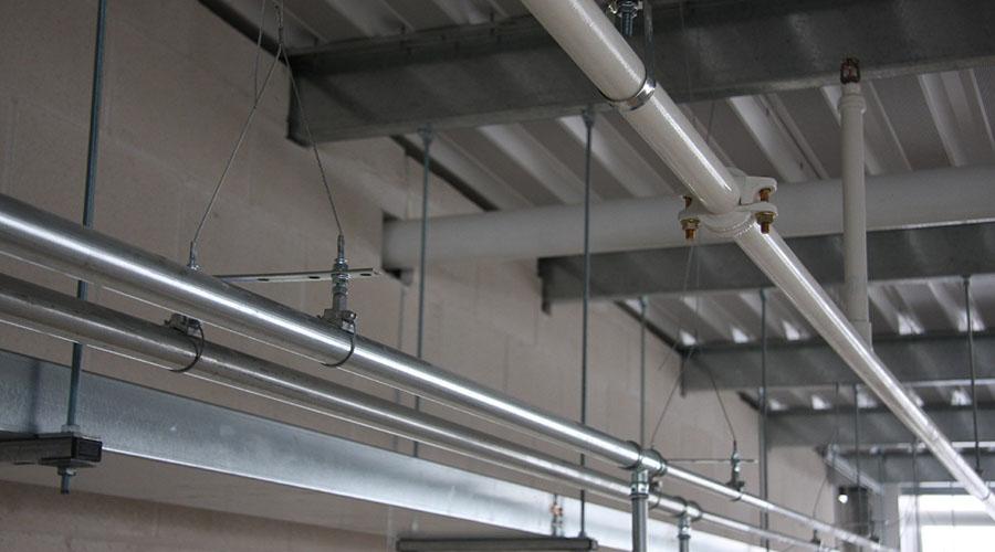 Rozvody potrubia na lanových systémoch