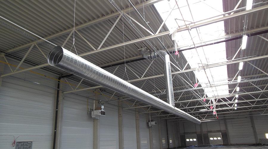 Vzduchotechnika vo výrobných halách na lane